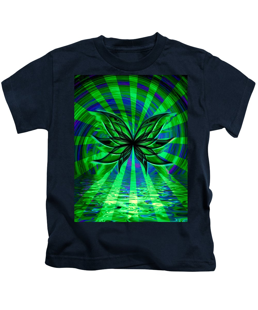 Butterfly Kids T-Shirt featuring the digital art The Cool Waters Of My Soul by Teri Schuster