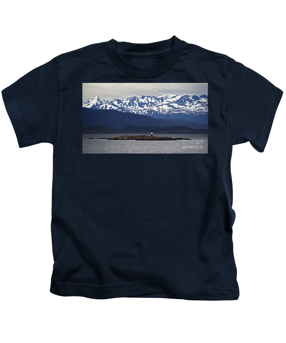 Festblues Kids T-Shirt featuring the photograph The End Of The World... by Nina Stavlund