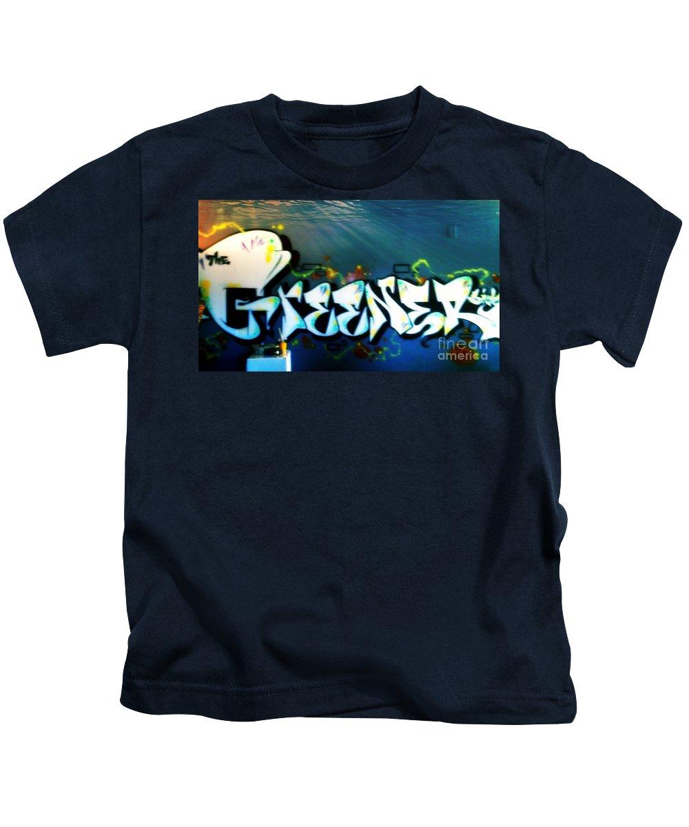 Kids T-Shirt featuring the photograph The Greener Side Under Water by Kelly Awad