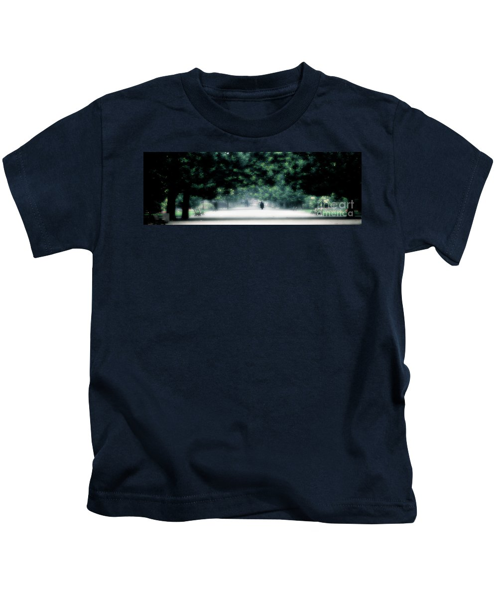 The Loner Kids T-Shirt featuring the photograph The Loner by Mike Nellums