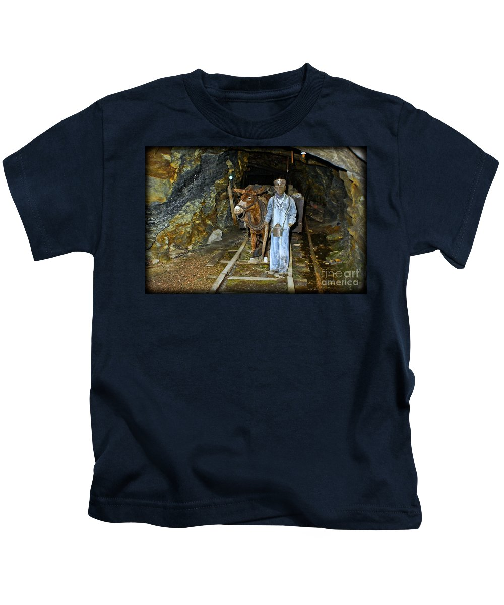 Mule Boy Kids T-Shirt featuring the photograph The Mule Boy by Gary Keesler