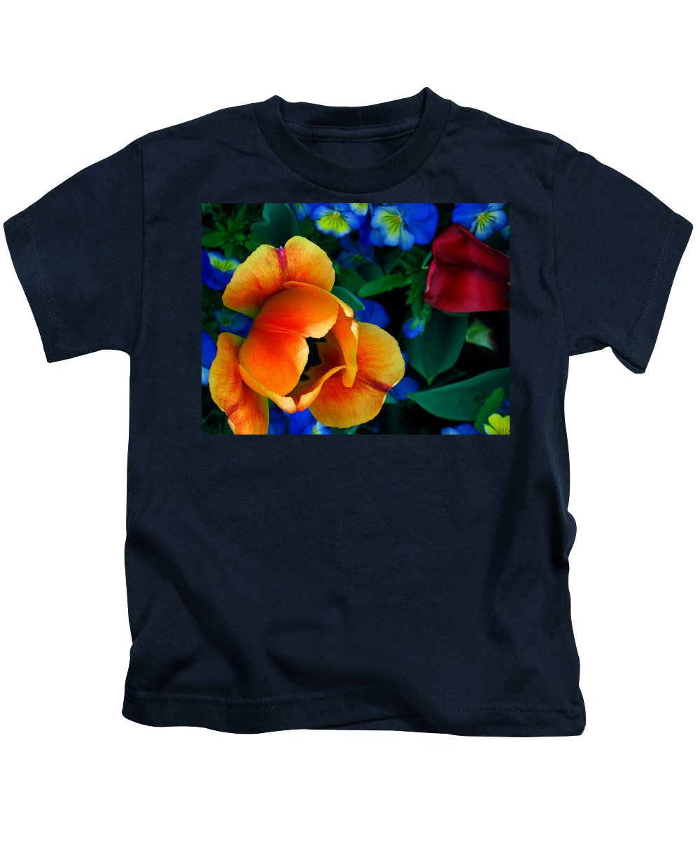 Flowers Kids T-Shirt featuring the photograph The Secret Life Of Tulips by Rory Sagner