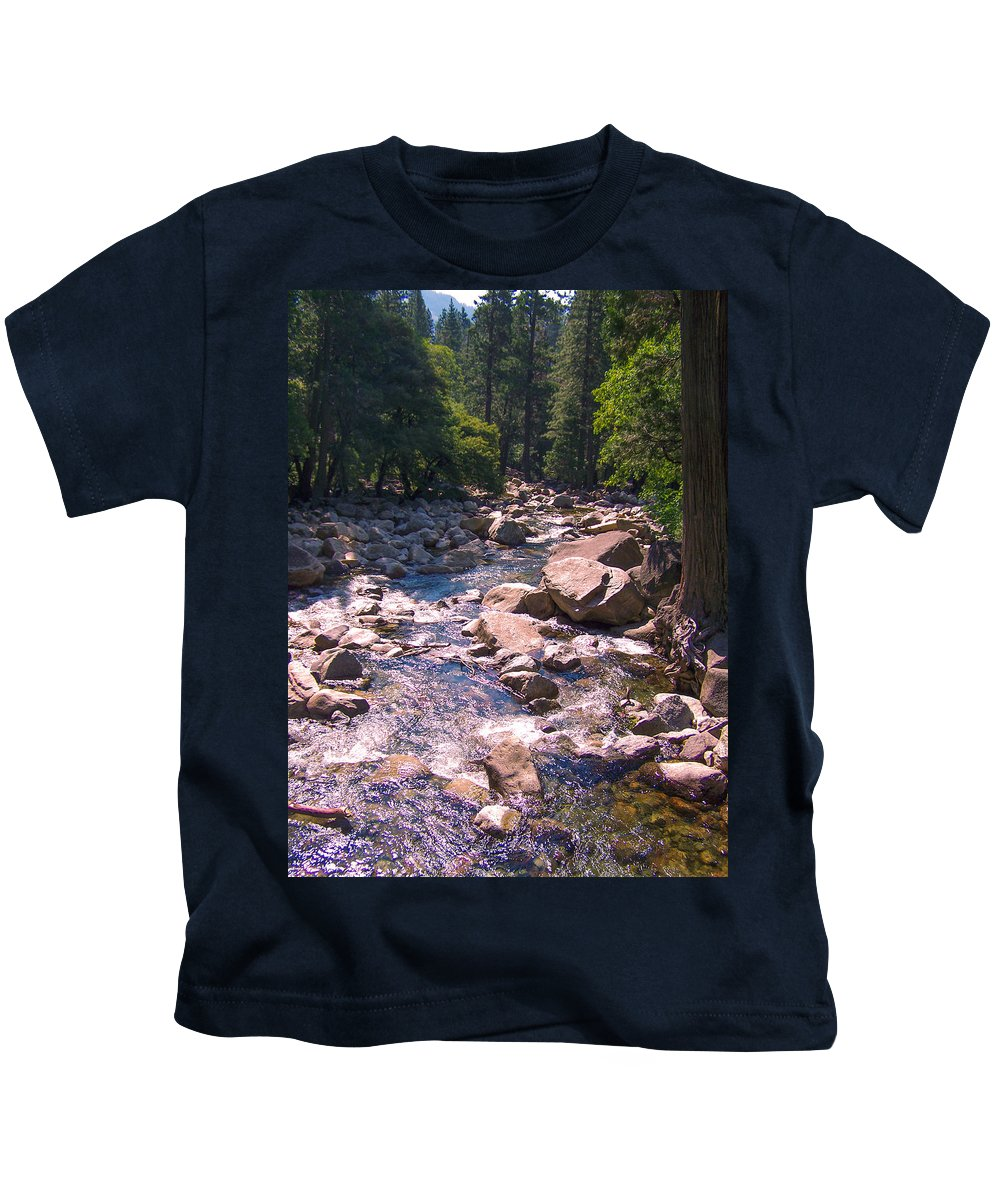 Yosemite Kids T-Shirt featuring the photograph The Sound Of Silence by Dany Lison