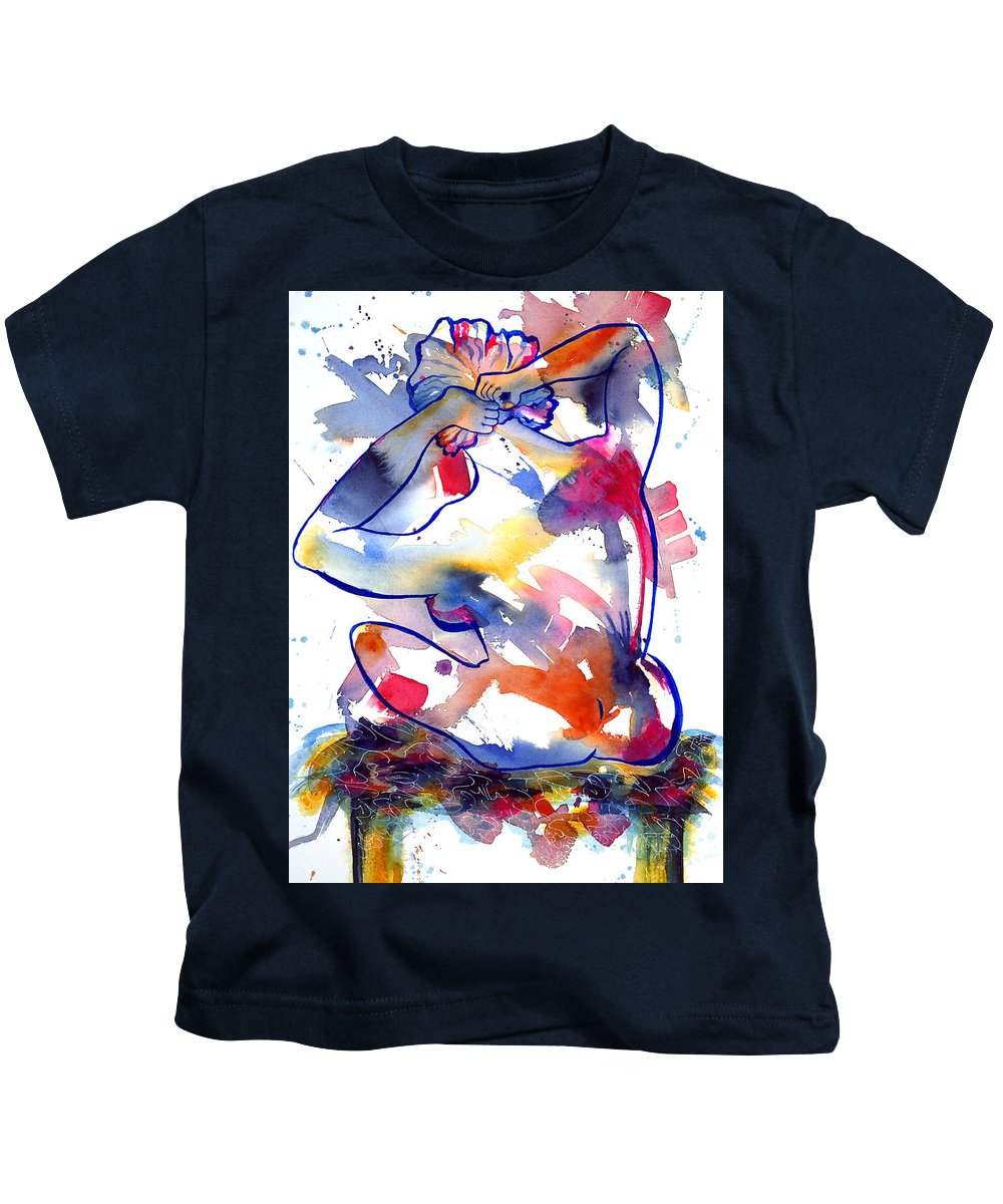 Nude Kids T-Shirt featuring the painting The Southside by Kim Shuckhart Gunns