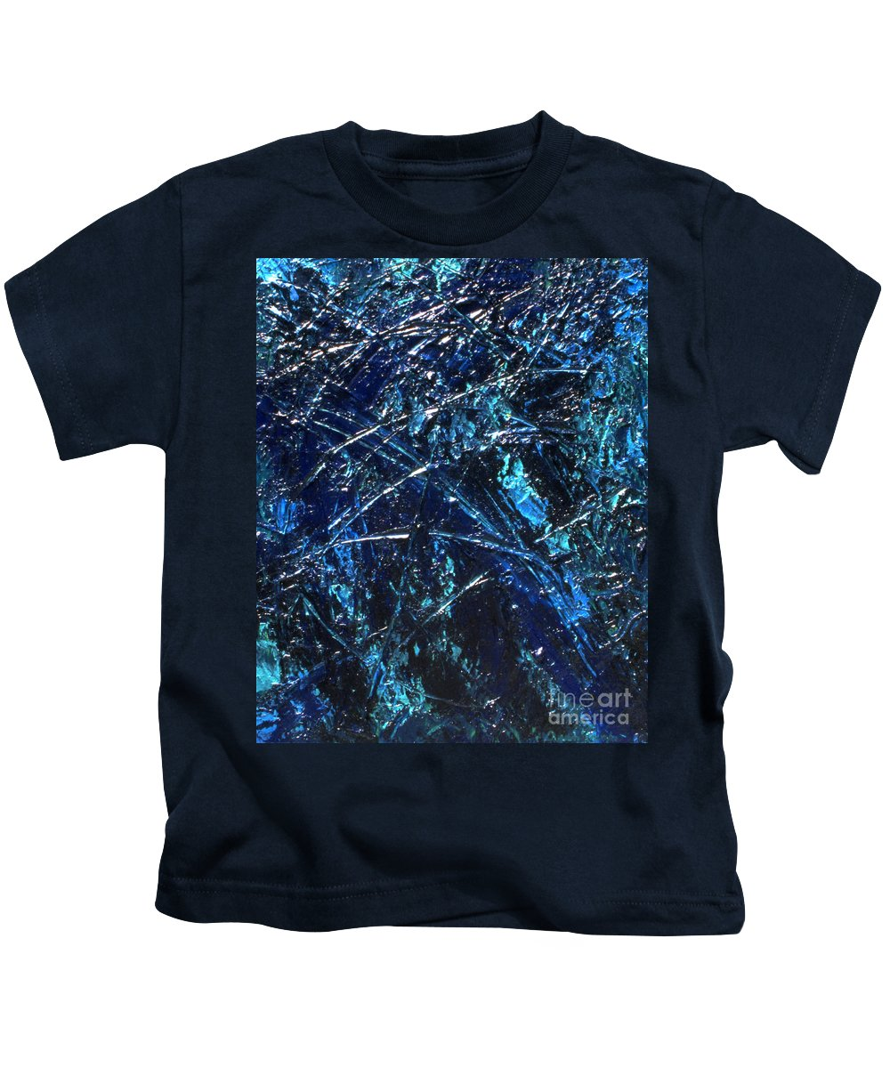 Abstract Kids T-Shirt featuring the painting Transitions I by Dean Triolo