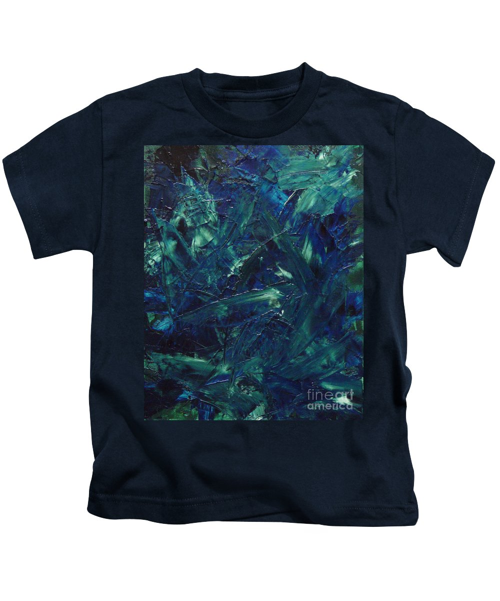 Abstract Kids T-Shirt featuring the painting Transtions Xi by Dean Triolo