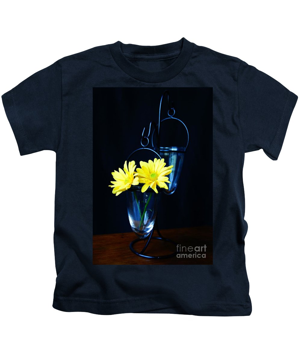 Flower Kids T-Shirt featuring the photograph Two Yellow Daisies by Kerri Mortenson