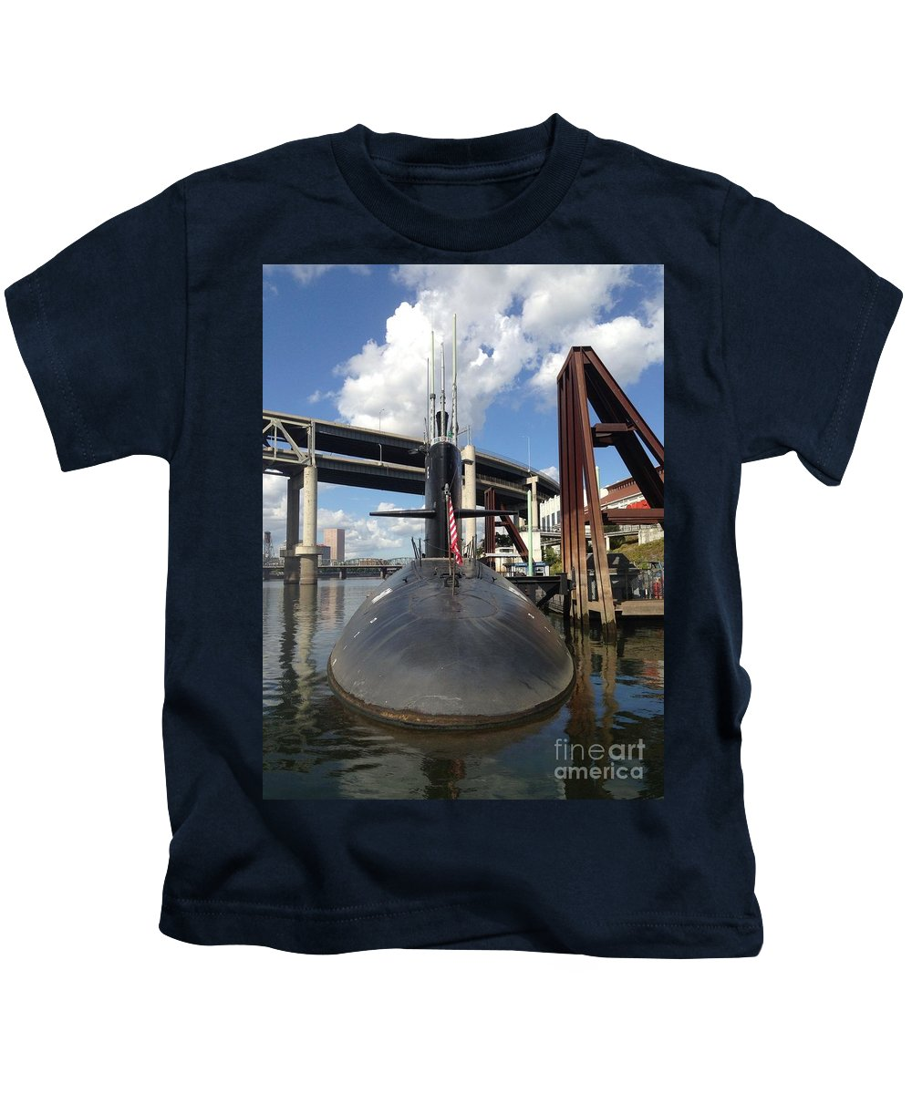 Uss Blue Back Submarine Kids T-Shirt featuring the photograph Uss Blue Back Submarine by Susan Garren