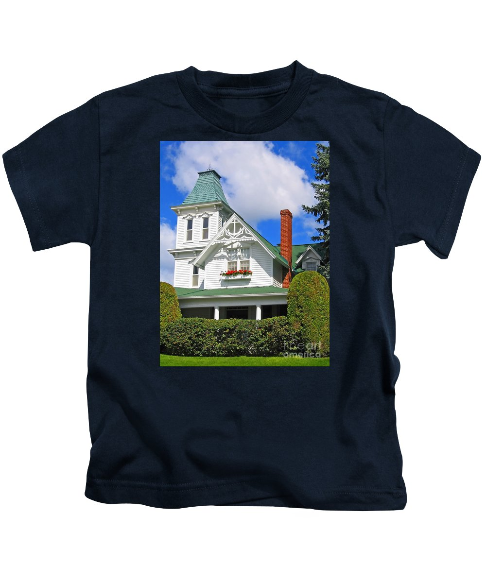 House Kids T-Shirt featuring the photograph Vintage Victorian by Ann Horn