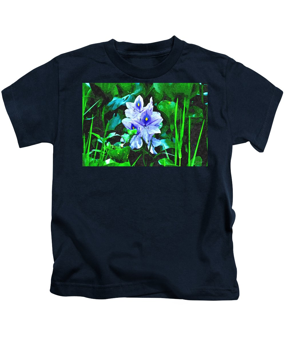Flower Kids T-Shirt featuring the photograph Water Hyacinth 1 by John Trommer
