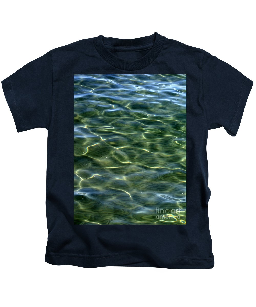Water Kids T-Shirt featuring the photograph Waves On Lake Tahoe by Carol Groenen
