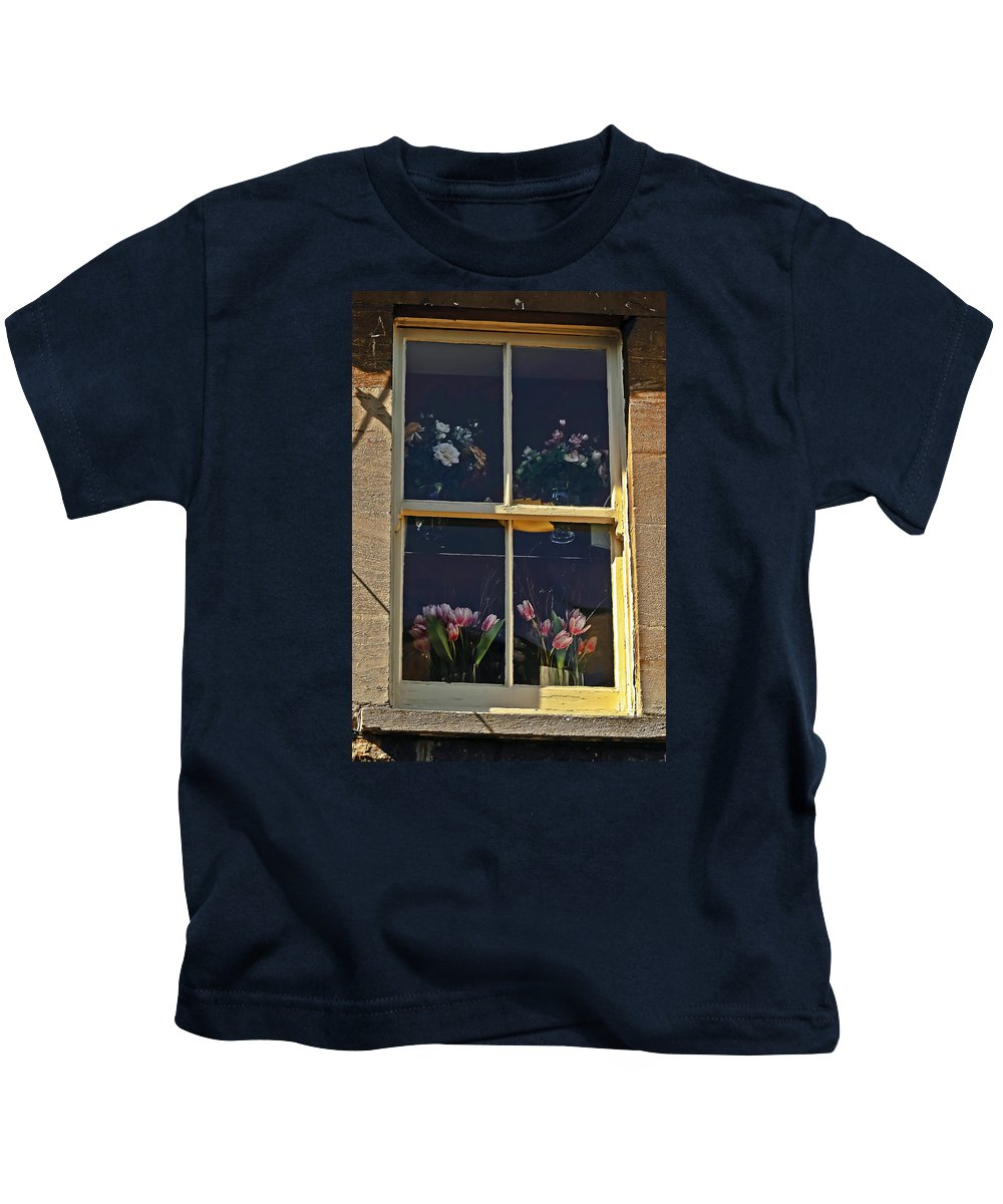 Travel Kids T-Shirt featuring the photograph Window Of The Cotswolds by Elvis Vaughn