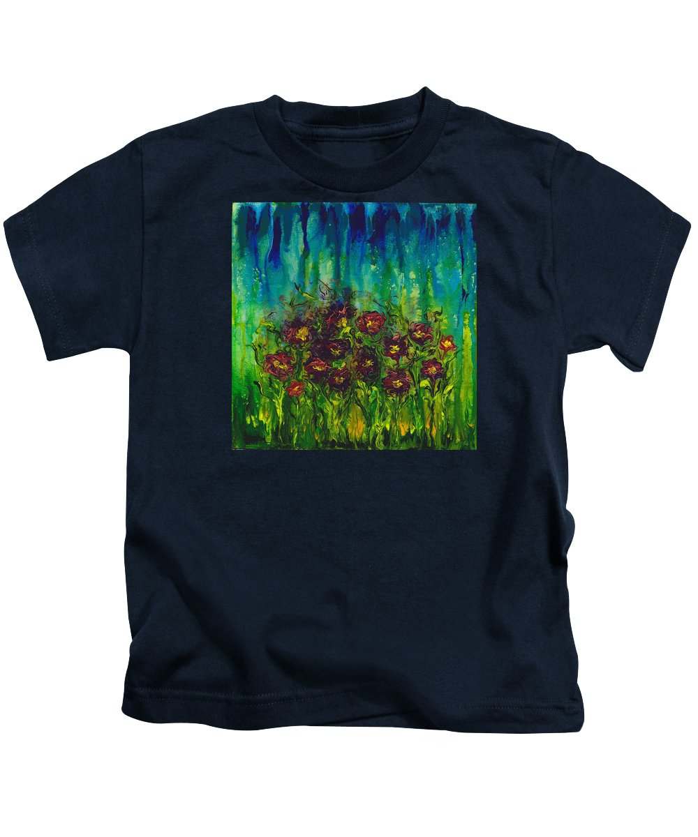 Wind Kids T-Shirt featuring the painting Windswept by Cindy Johnston