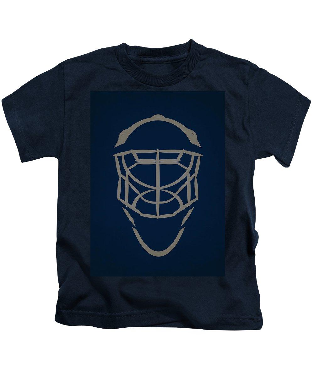 Jets Kids T-Shirt featuring the photograph Winnipeg Jets Goalie Mask by Joe Hamilton