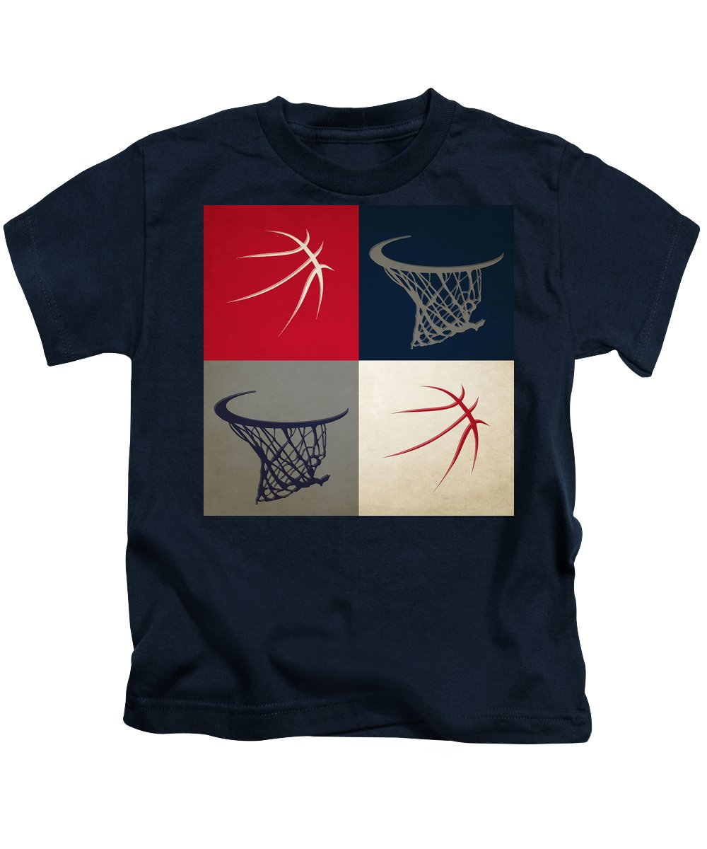 Wizards Kids T-Shirt featuring the photograph Wizards Ball And Hoop by Joe Hamilton