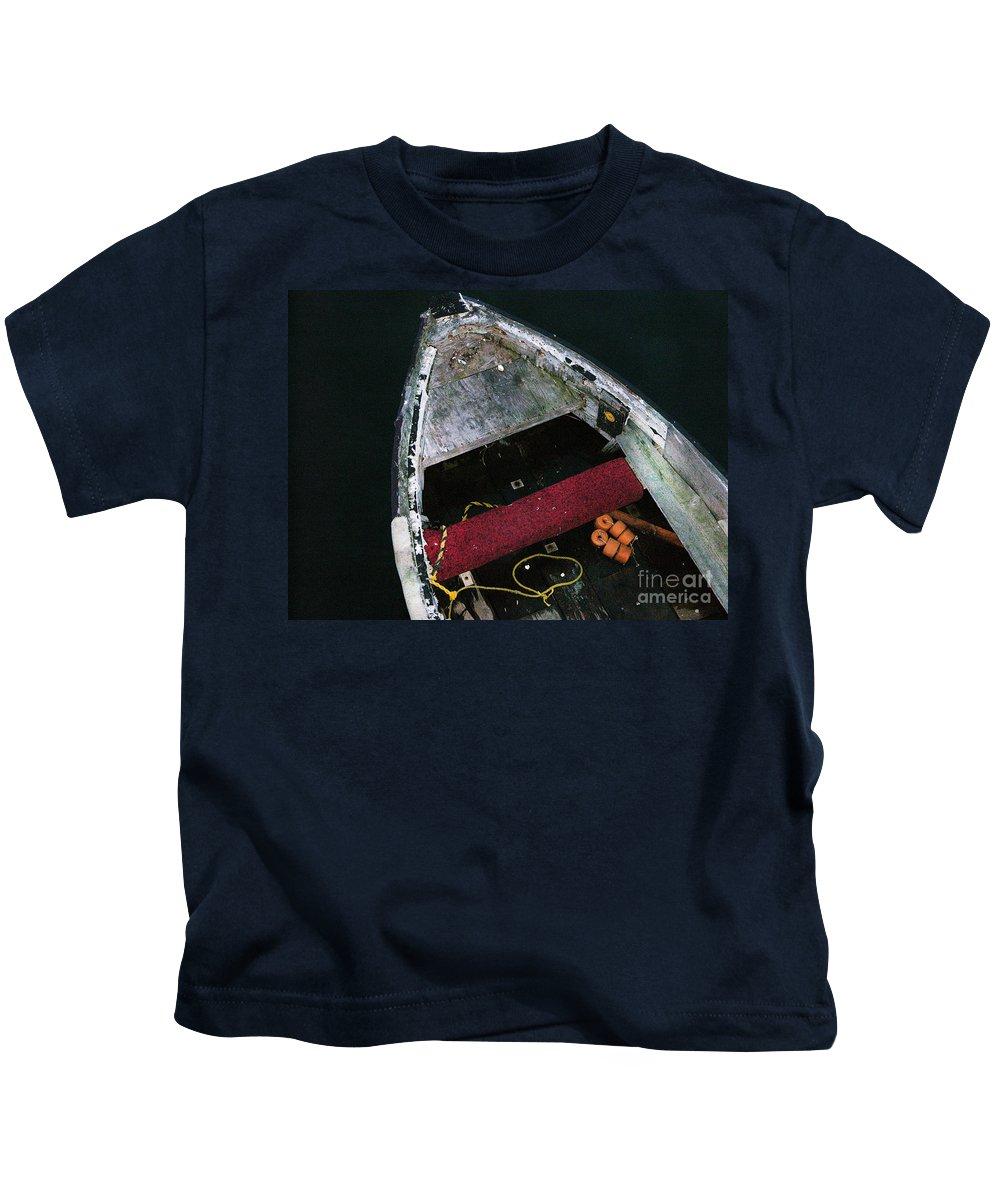 Boat Kids T-Shirt featuring the photograph Wooden Boat by Karen Lambert