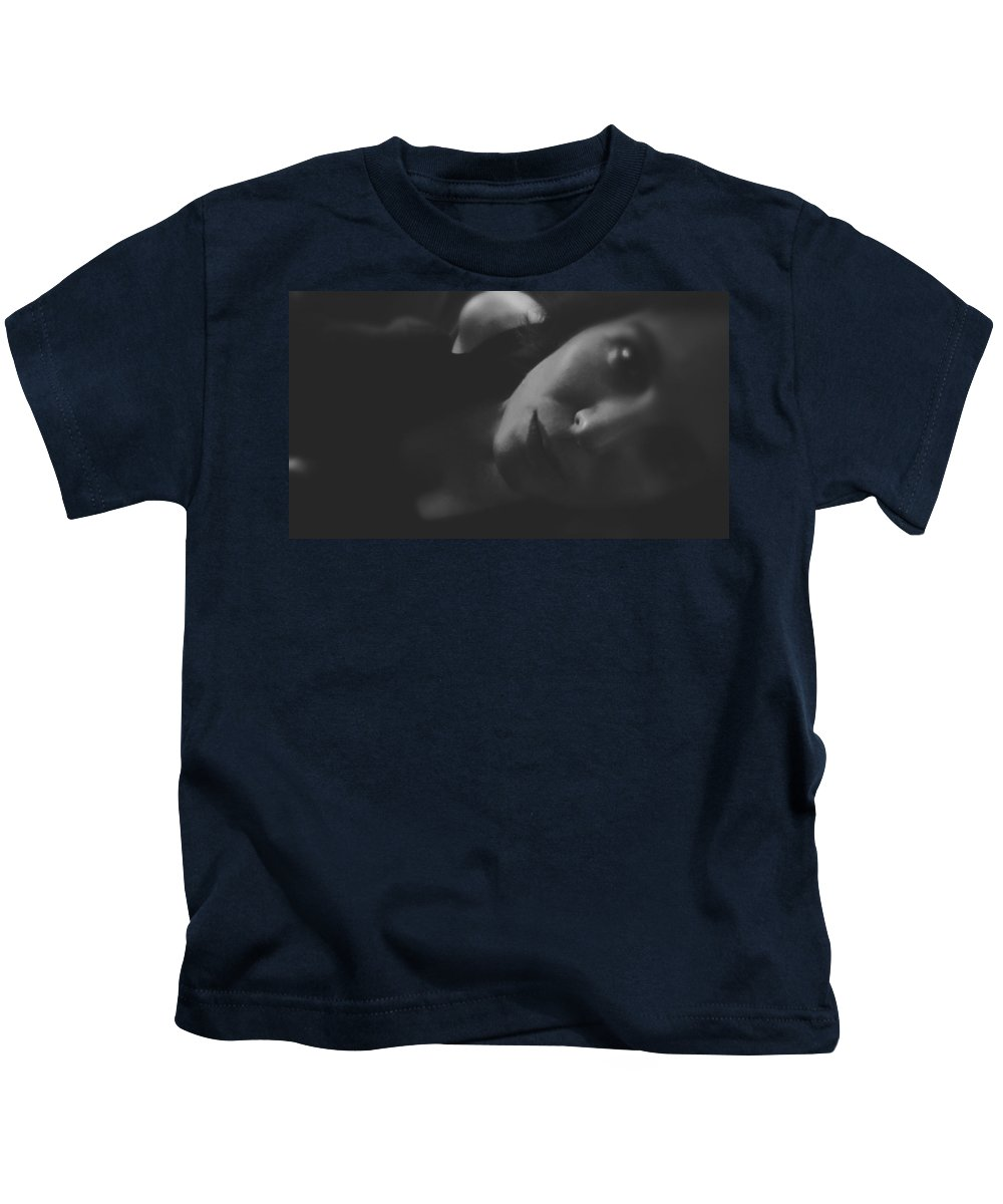 Woman Kids T-Shirt featuring the photograph Words Not Spoken by Michele Mule