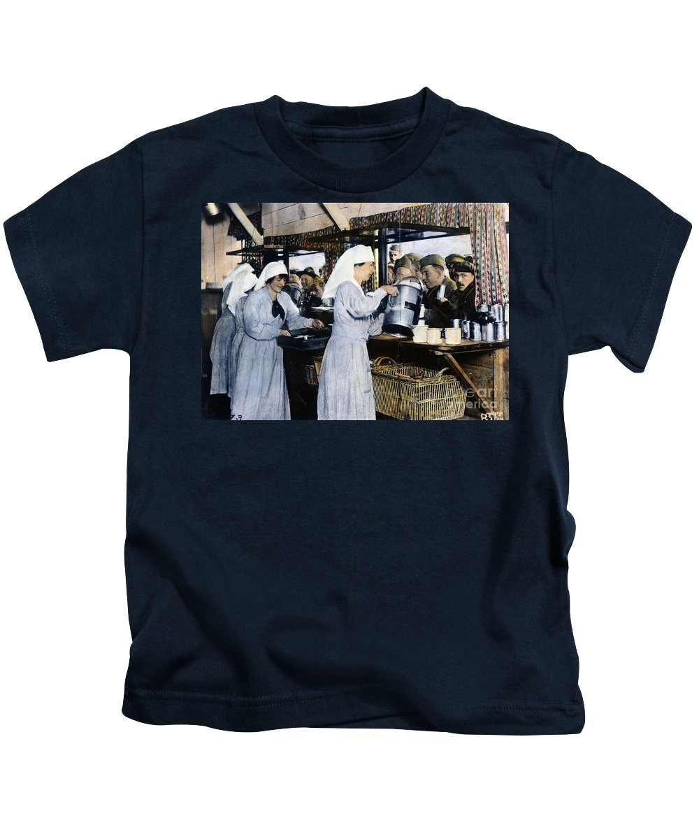 1918 Kids T-Shirt featuring the photograph Ww1: Red Cross, 1918 by Granger