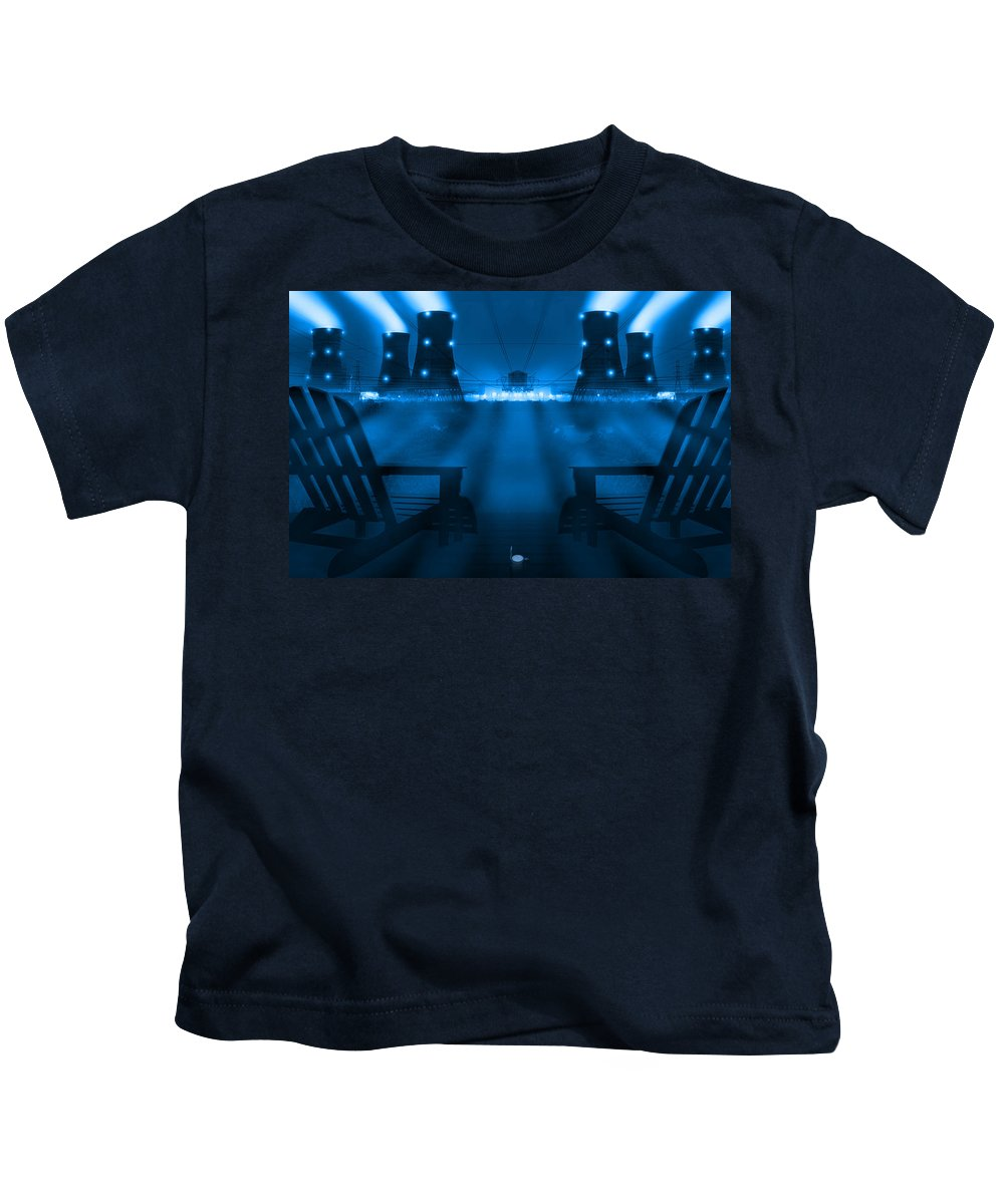Surrealism Kids T-Shirt featuring the photograph Zero Hour In Blue by Mike McGlothlen