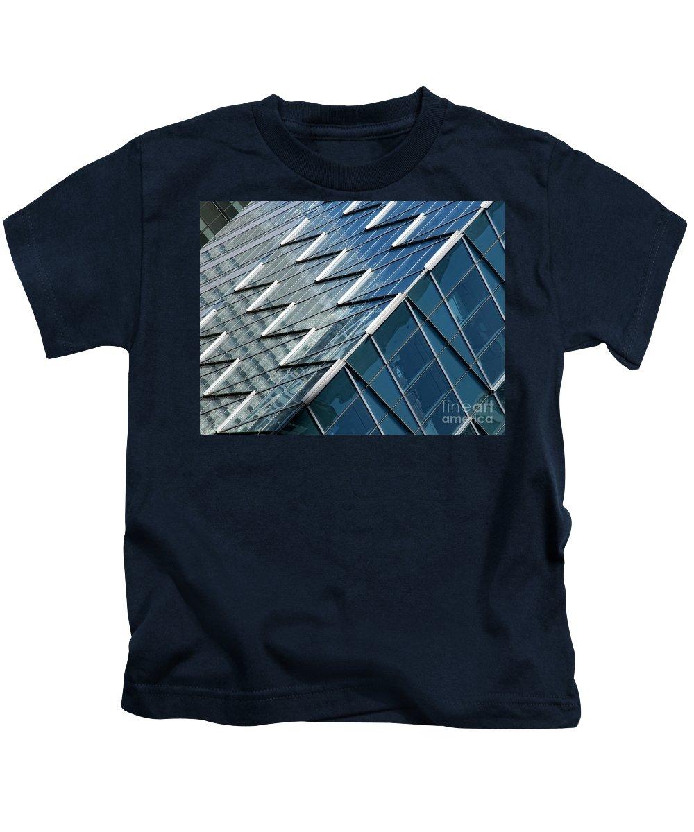 Architecture Kids T-Shirt featuring the photograph Zig Zag by Claudia Kuhn