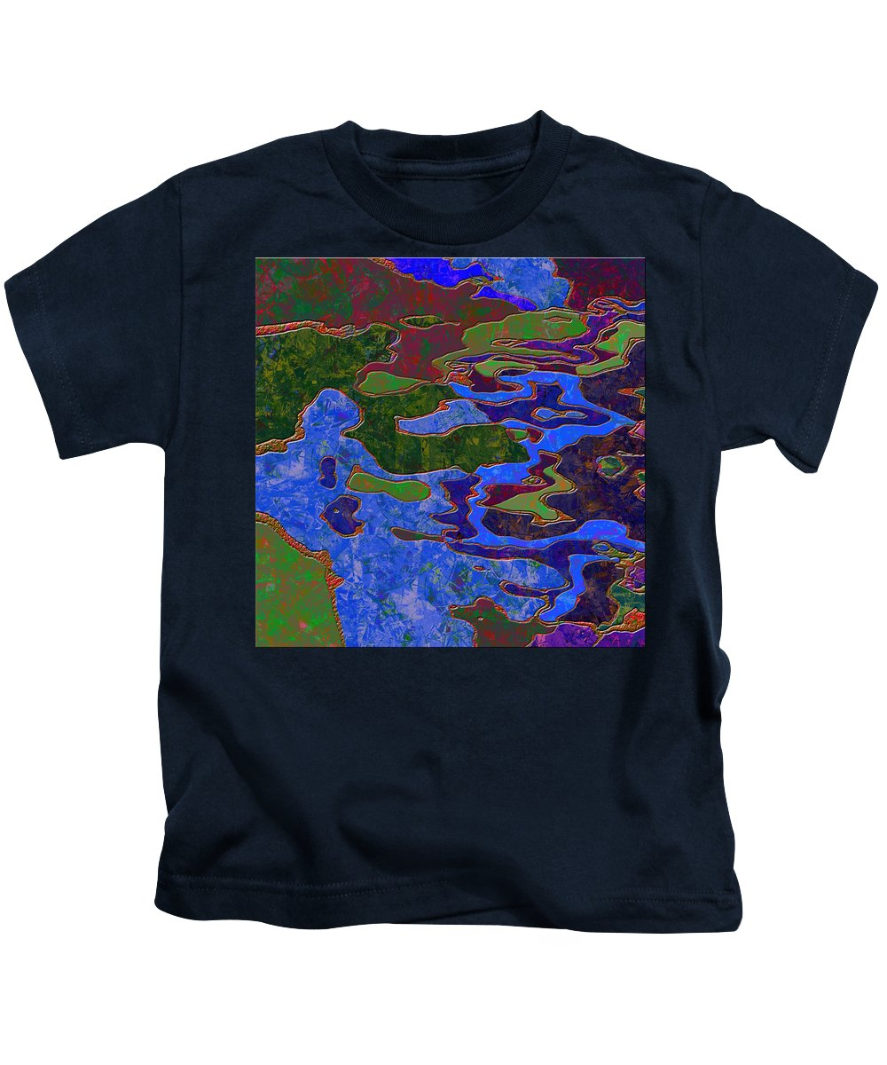 Abstract Kids T-Shirt featuring the digital art 0681 Abstract Thought by Chowdary V Arikatla