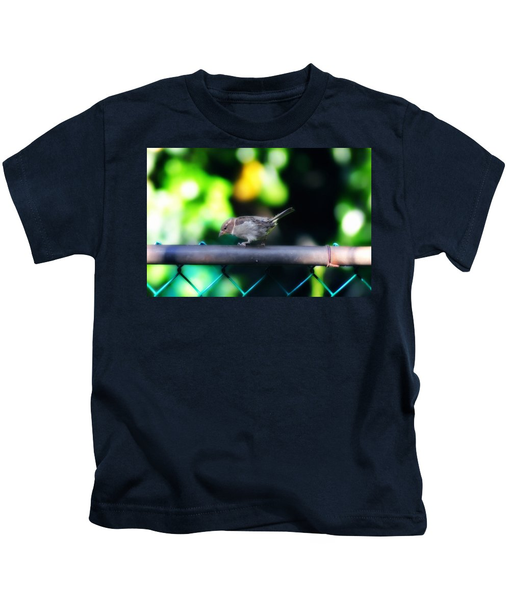 A Little Birdie Told Me Kids T-Shirt featuring the photograph A Little Birdie Told Me by Bill Cannon