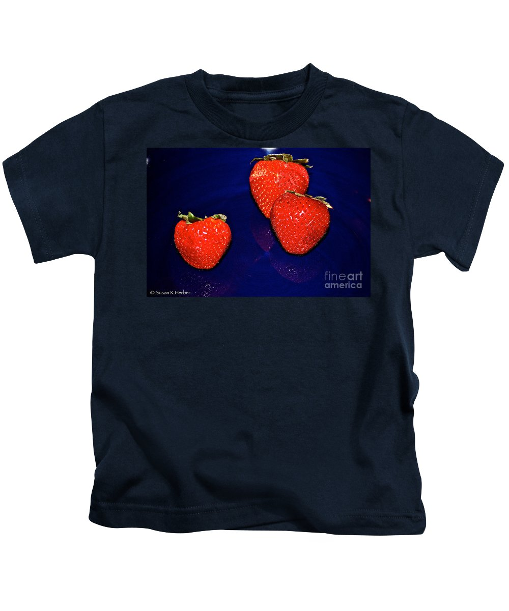Food Kids T-Shirt featuring the photograph Breakfast by Susan Herber