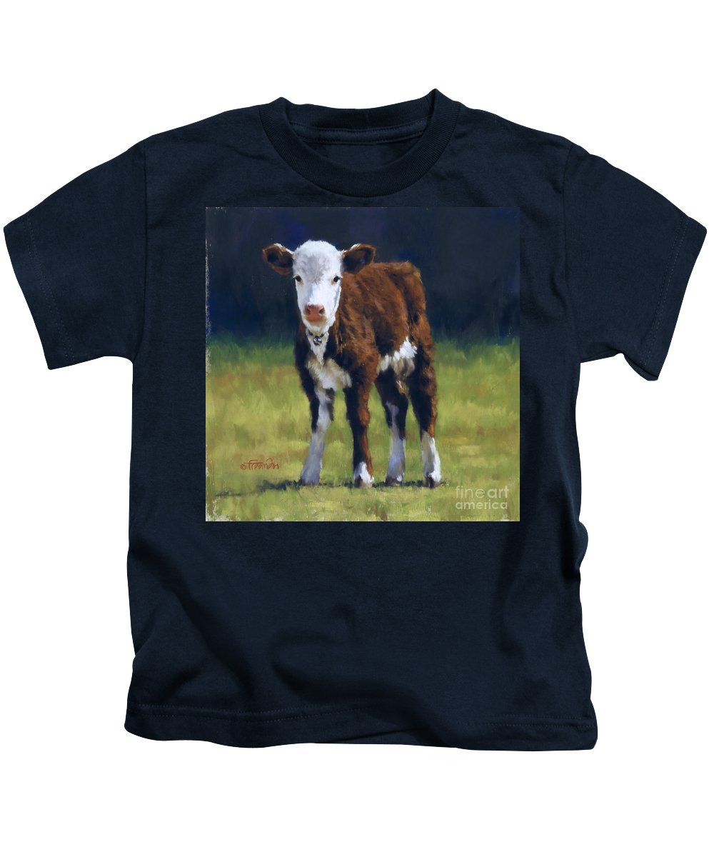 Cow Kids T-Shirt featuring the pastel Butterball by Brian Freeman
