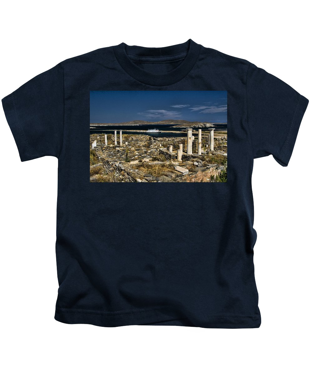 Delos Kids T-Shirt featuring the photograph Delos Island by David Smith