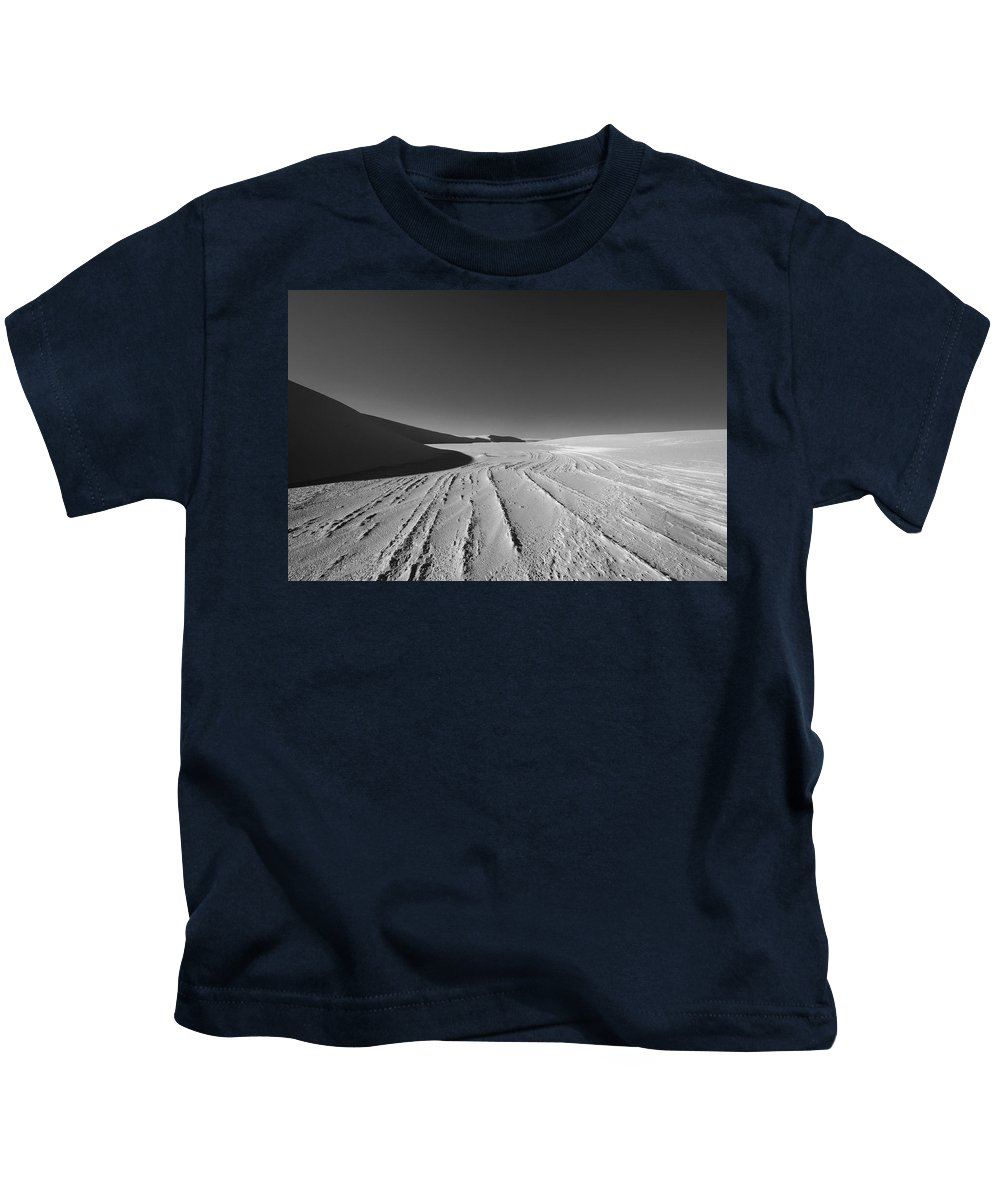 New Mexico Kids T-Shirt featuring the photograph Sand Lines by Sean Wray