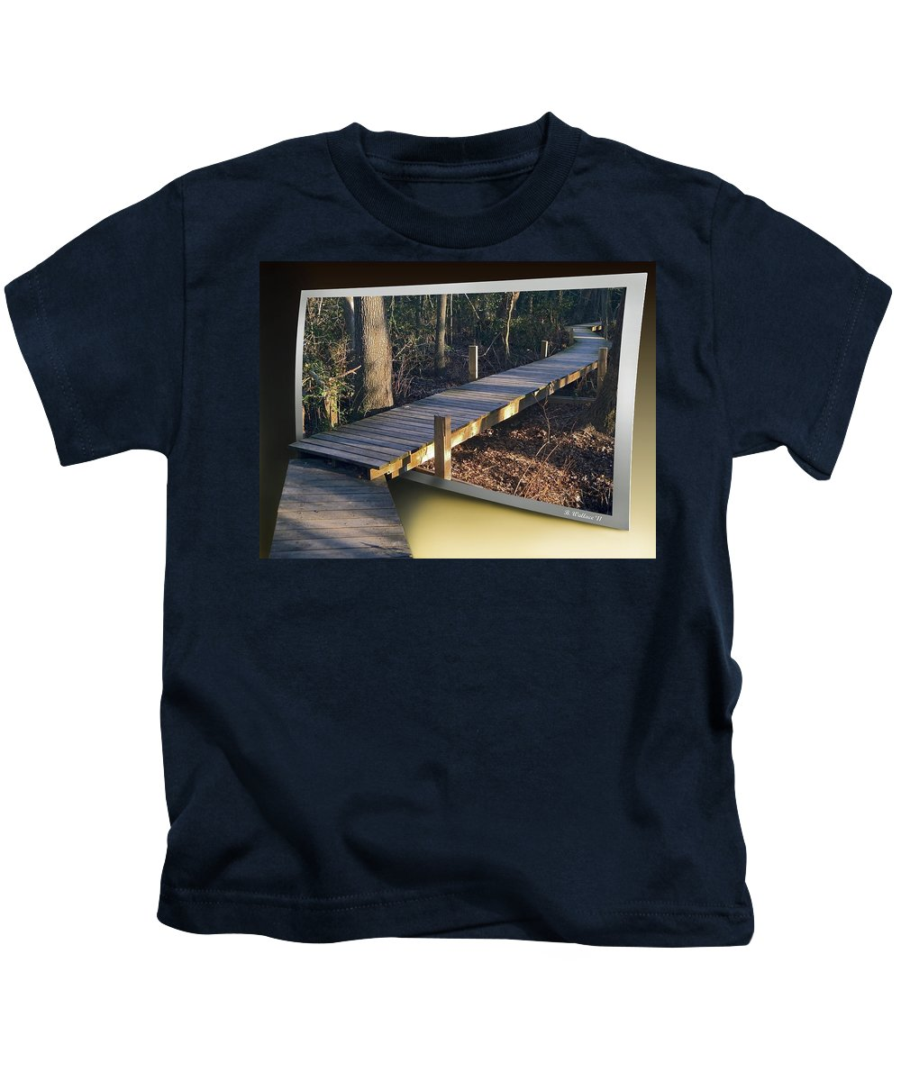 2d Kids T-Shirt featuring the photograph Walk Bridge by Brian Wallace