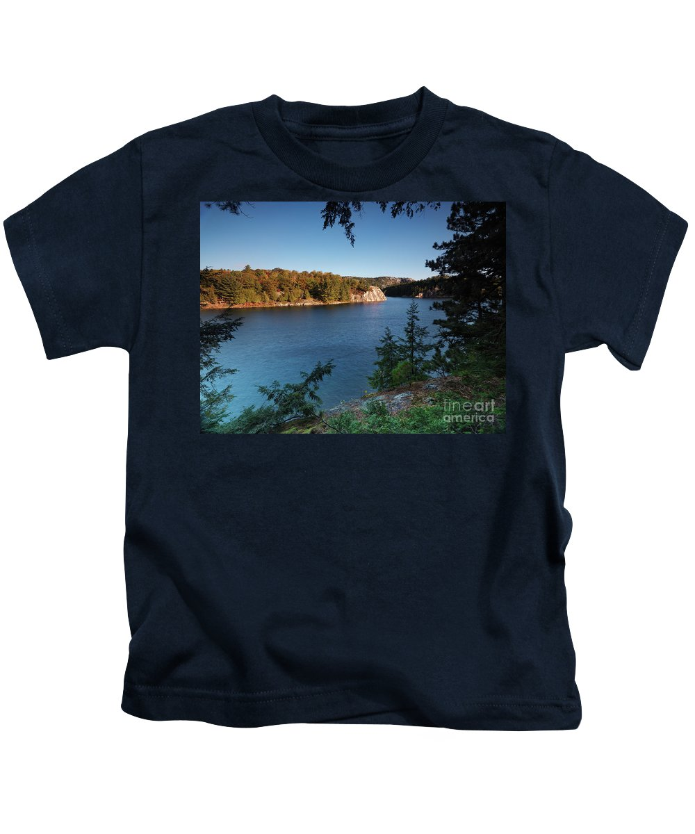 Lake Kids T-Shirt featuring the photograph Killarney Provincial Park by Oleksiy Maksymenko