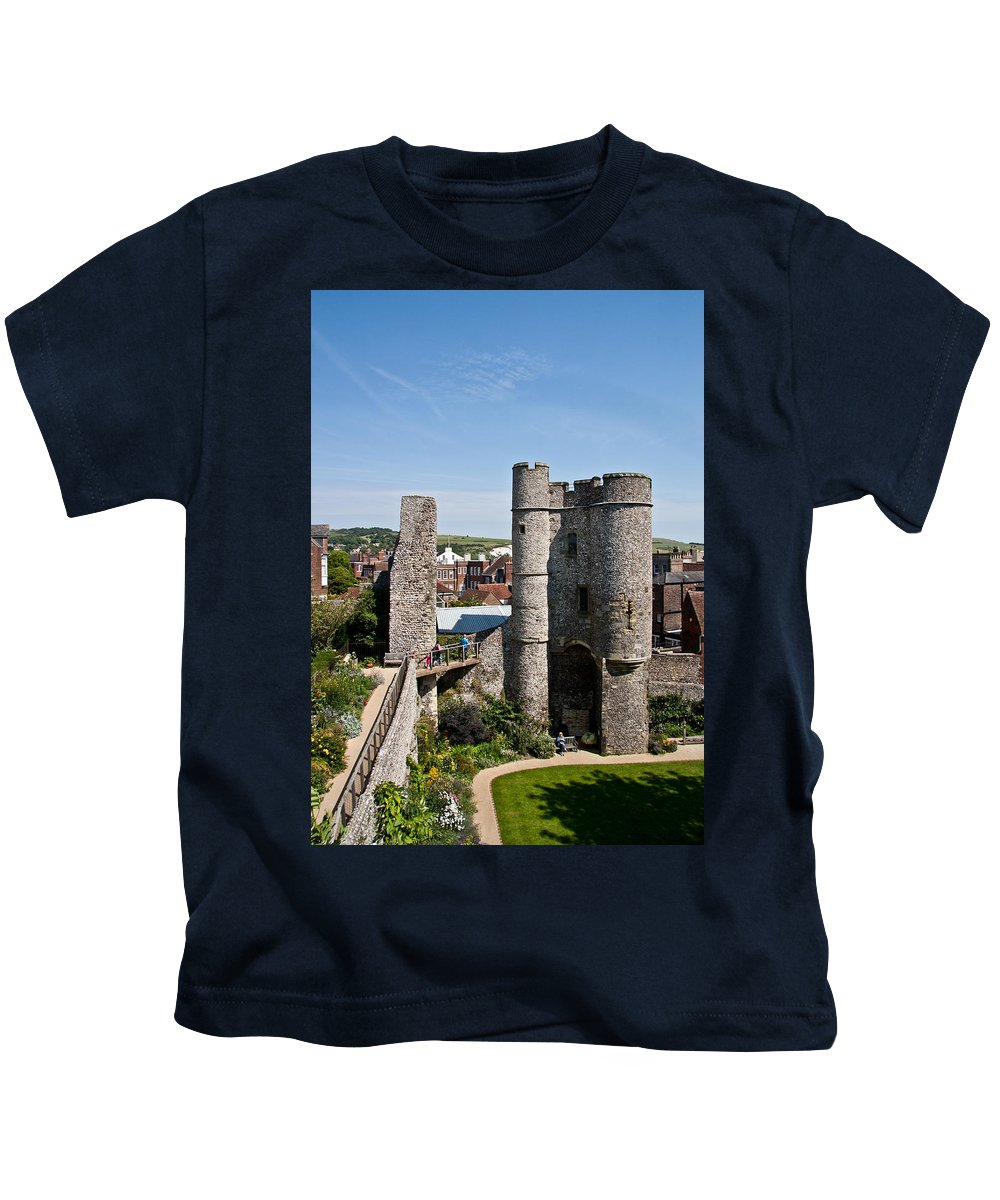 Lewes Castle Kids T-Shirt featuring the photograph Lewes Castle by Dawn OConnor