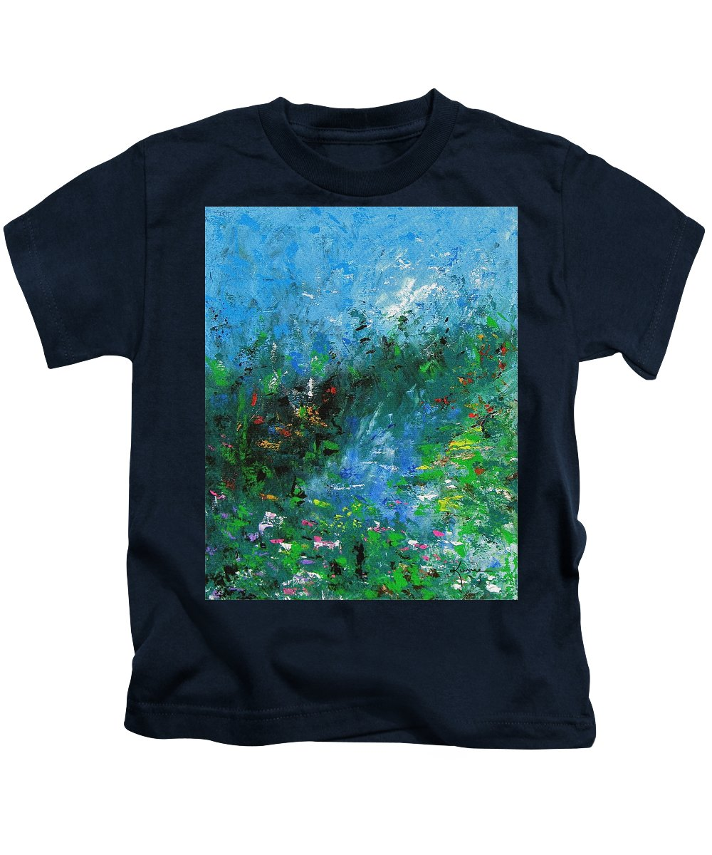 Spring Kids T-Shirt featuring the painting Spring by Kume Bryant