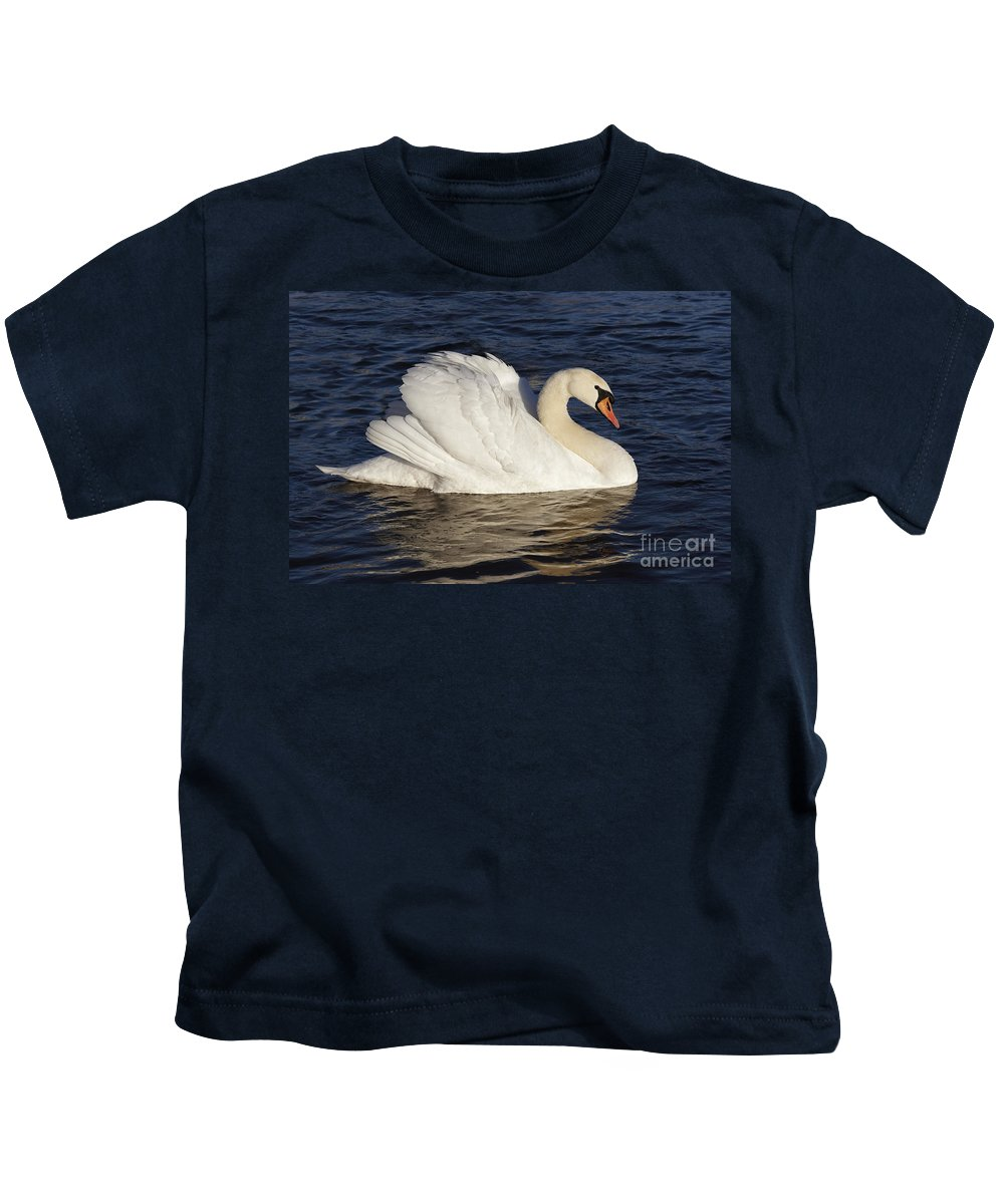 Nature Kids T-Shirt featuring the photograph Swan by Michal Boubin