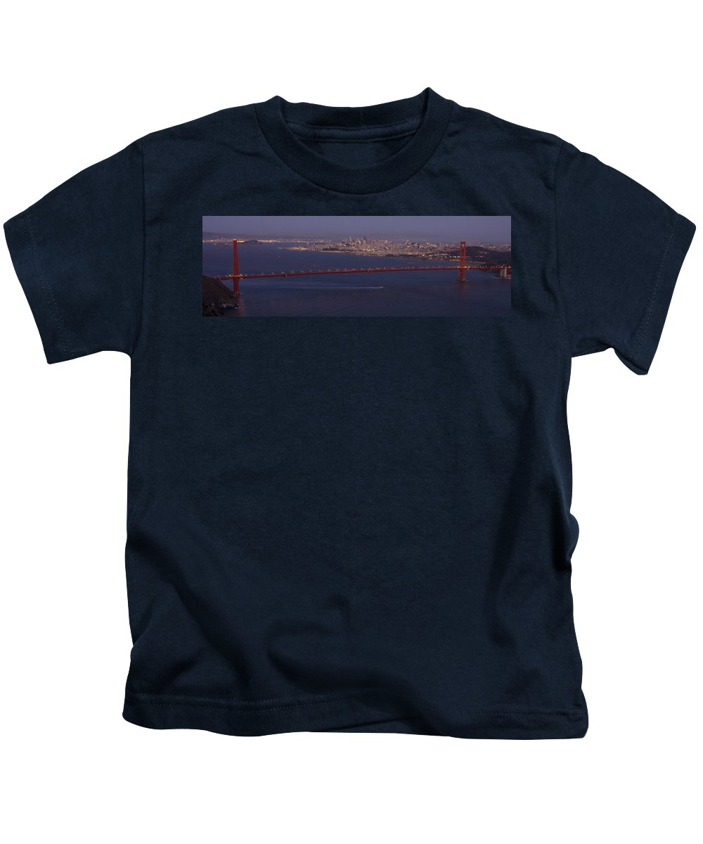 A View From Marin Headlands Kids T-Shirt featuring the photograph A View From Marin Headlands by Wes and Dotty Weber