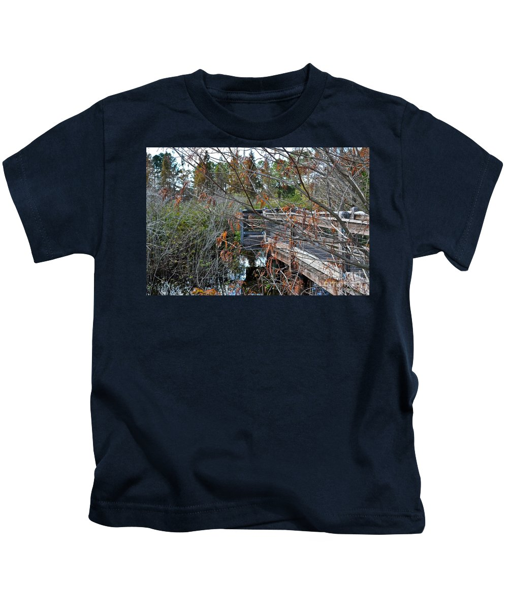 Florida Kids T-Shirt featuring the photograph A Winter Day by Carol Bradley