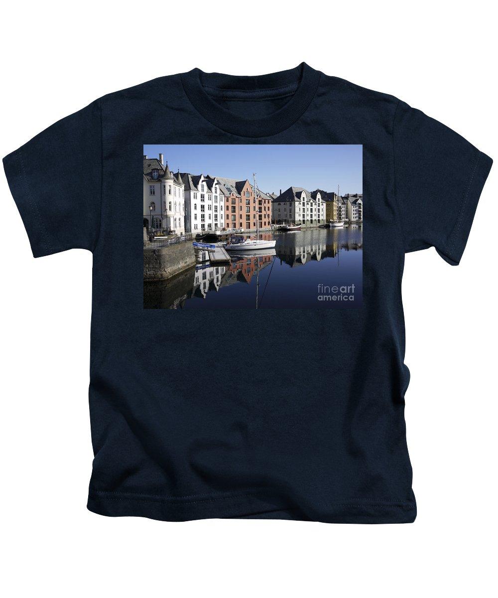 Alesund Kids T-Shirt featuring the photograph Alesund Norway by Moshe Torgovitsky
