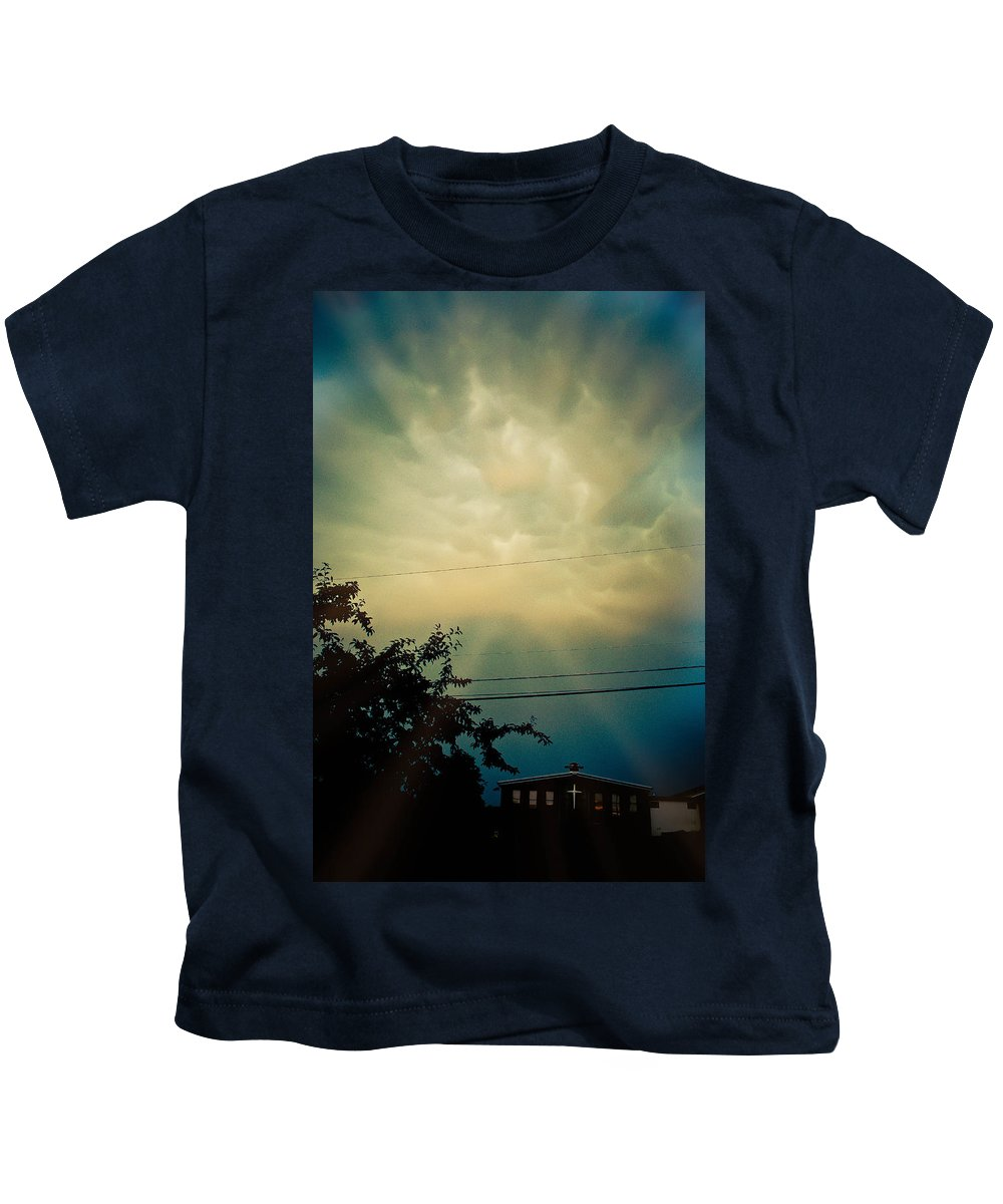 Cloud Kids T-Shirt featuring the photograph Amazing Trinity by Trish Tritz