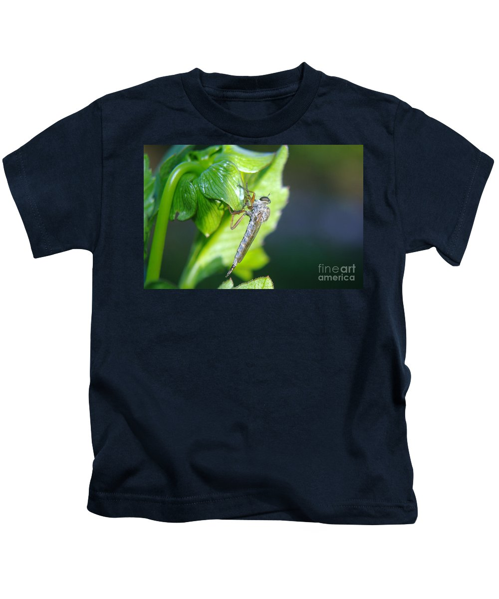 Insect Kids T-Shirt featuring the photograph An Insect Resting by Jeff Swan