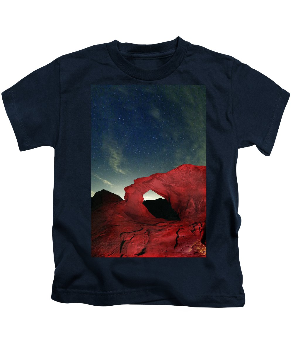 Stars Kids T-Shirt featuring the photograph Arch And Stars by Rick Berk