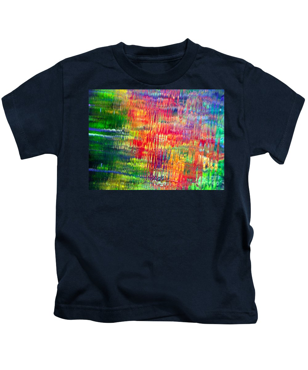 Autumn Colors Kids T-Shirt featuring the photograph Autumn Abstarcts by Optical Playground By MP Ray