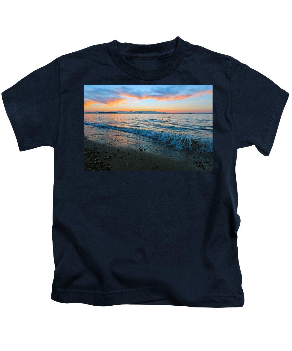 Landscape Kids T-Shirt featuring the photograph Beach Sunset by Paul Fell