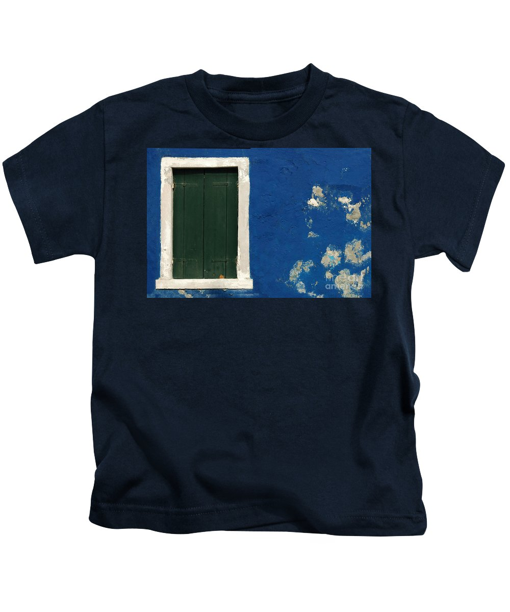Burano Kids T-Shirt featuring the photograph Burano Italy 11 by Mike Nellums