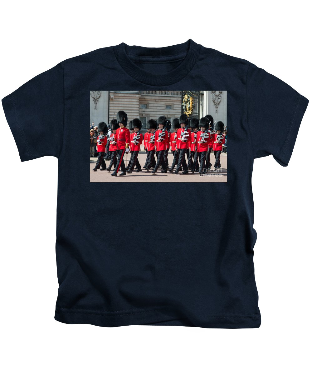 British Kids T-Shirt featuring the photograph Changing Of The Guard by Andrew Michael