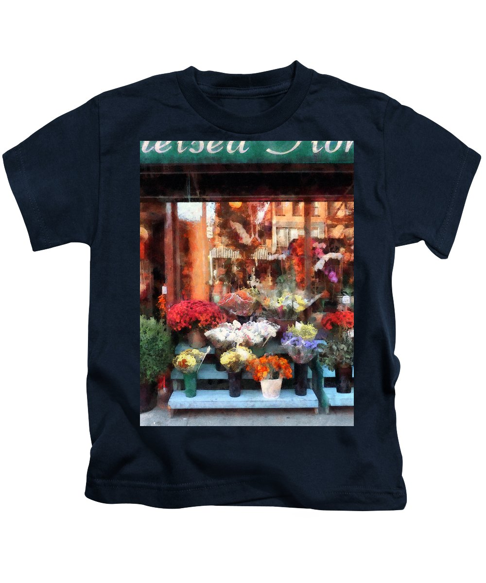 Flower Kids T-Shirt featuring the photograph Chelsea Flower Shop by Susan Savad