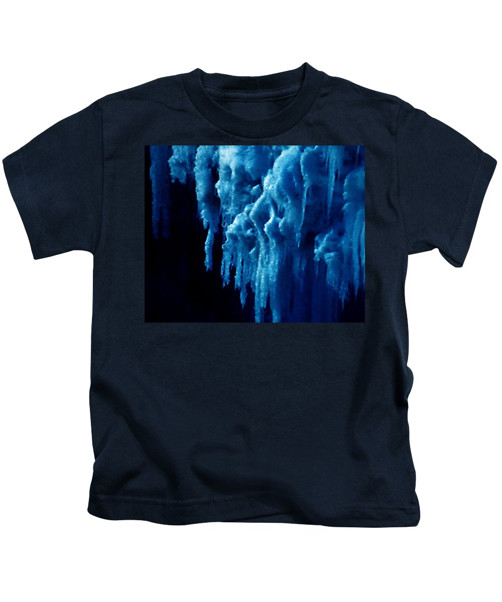 Colette Kids T-Shirt featuring the photograph Cold Ice by Colette V Hera Guggenheim