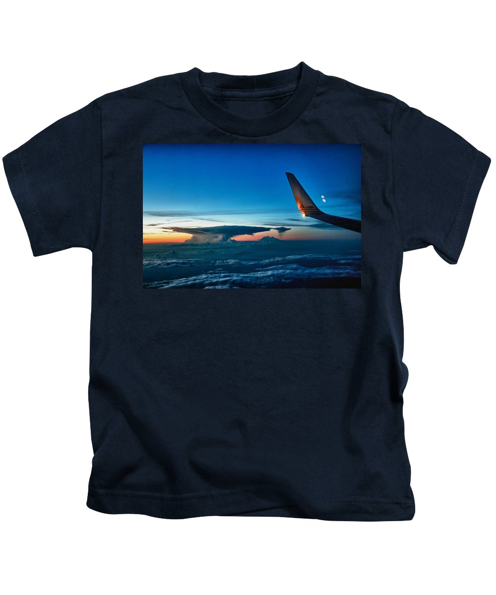 Wingtip Kids T-Shirt featuring the photograph Distant Storm by Robert Swinson