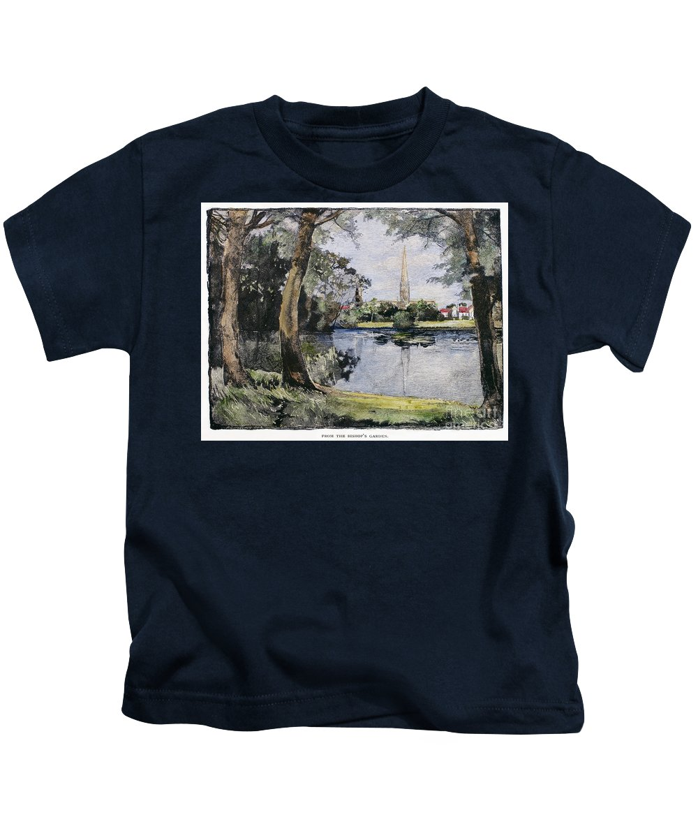 1888 Kids T-Shirt featuring the photograph England: Salisbury by Granger