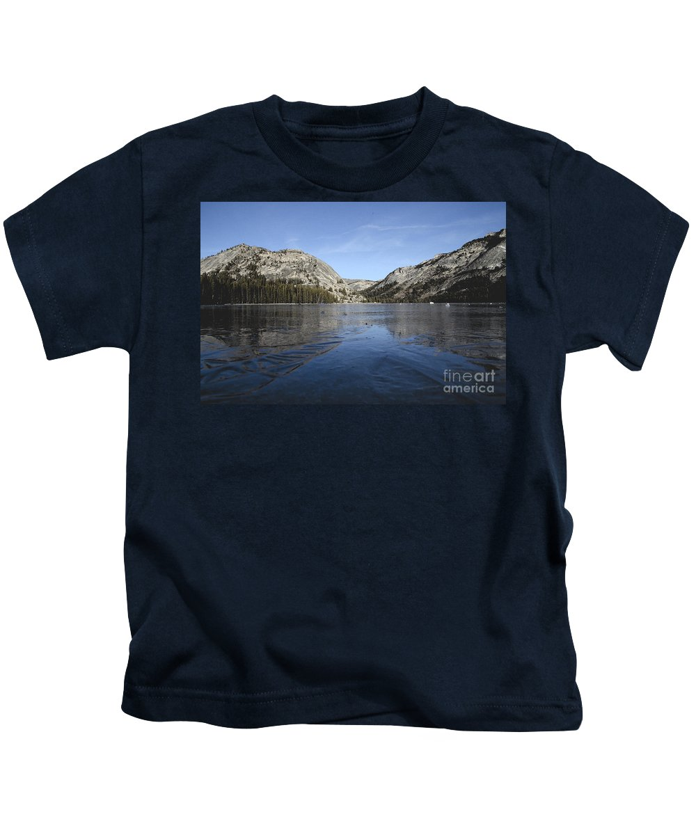 Yosemite National Park Kids T-Shirt featuring the photograph Frozen Tenaya Lake by Jim And Emily Bush